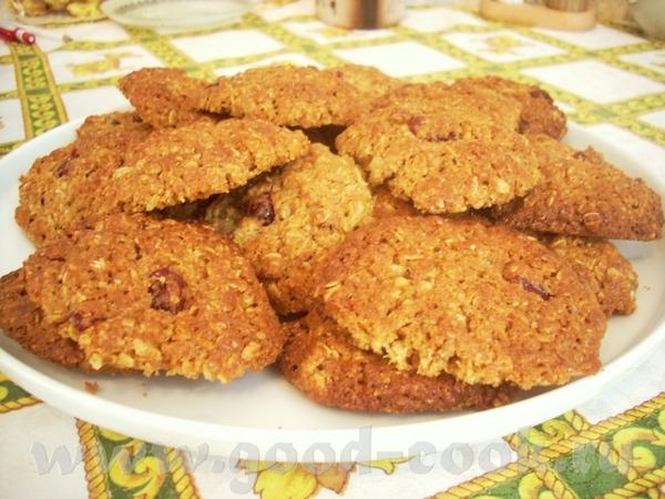 Овсяное печенье с сушёной вишней Рассыпчатые бискотти с орехами