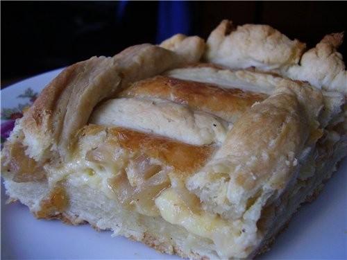 Закусочный луковый пирог ТЕСТО 500гр