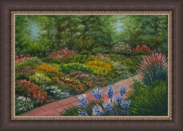 Цветущий сад, масло, 20х30 Дождливая ночь, масло, 20х30, мастихин