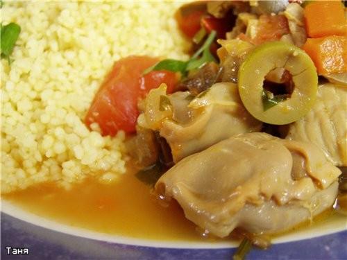 Рагу из куриных пупков с овощами и оливками - 2