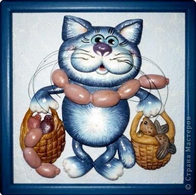 """Для любителей котов-поэтапное описание создания картины """"Кот с авоськами"""""""