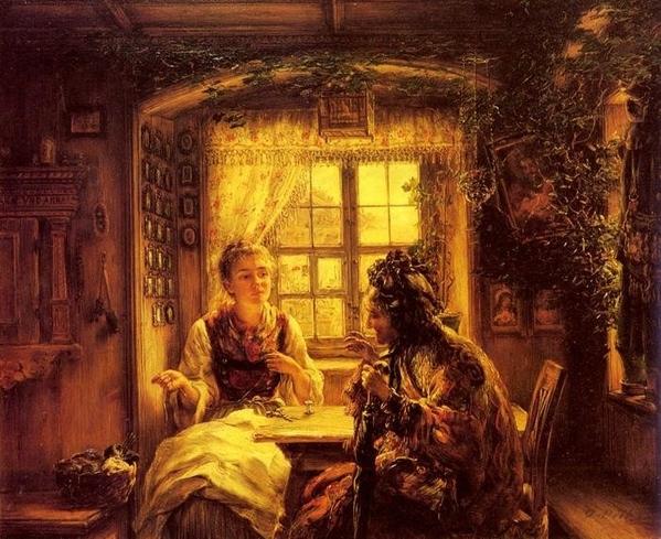Понравились стихи и картина Otto Piltz Расскажу, что было и что будет, Не солгу – и правды не скажу