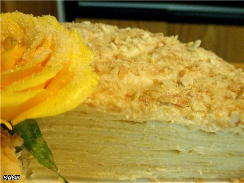"""А на сладкое был """"НАПОЛЕОН"""" а это роза с торта - 2"""