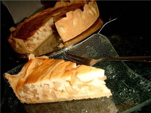 Пирог творожно-грушевый (самовыдуманный )