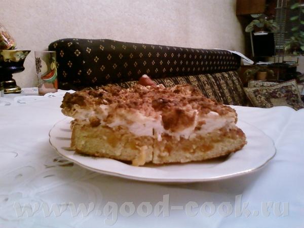 """Я глядя на Василису тоже испекла этот пирог """"Мечта"""" , только вместо клубники, я положила курагу, пр... - 2"""