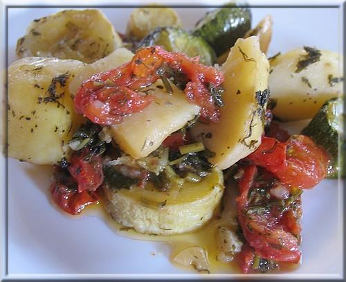 Овощи, запеченые в духовке - Λαχανικα στο &#... - 2