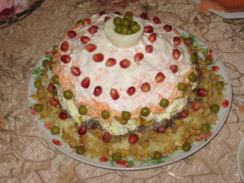 """Салат """"Шапка Мономаха"""" от Ирины Кутовой Делала салат почти точно по рецепту, только не использовала... - 2"""