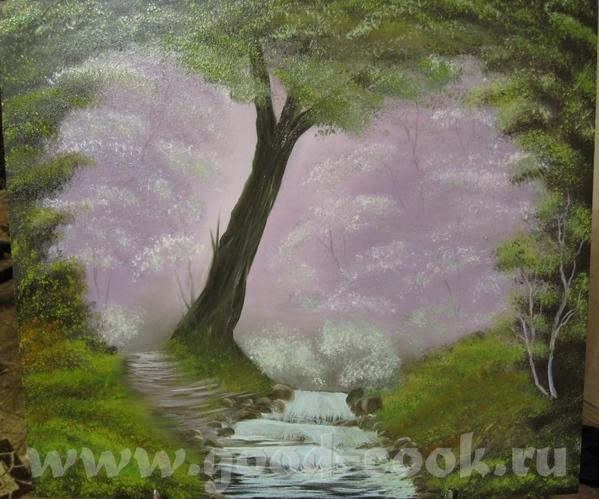 Моя первая картина по урокам Боба Росса