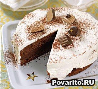 Торт из черного шоколада