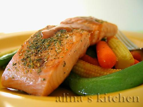 Мой ужин - рыба с овощами: