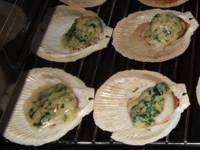 Spinach and mustard scallops/ Гребешки под соусом из шпината и горчицы рецепт здесь И еще хочу прор...