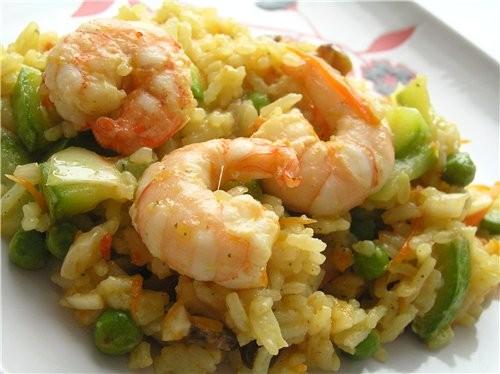 Кантонский рис Рис с тигровыми креветками, овощами и изюмом Рис со свининой по-тайски Плов с овощам... - 2