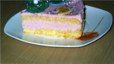 Торт Розовый - 150 г Маргарина - 100 г - 2