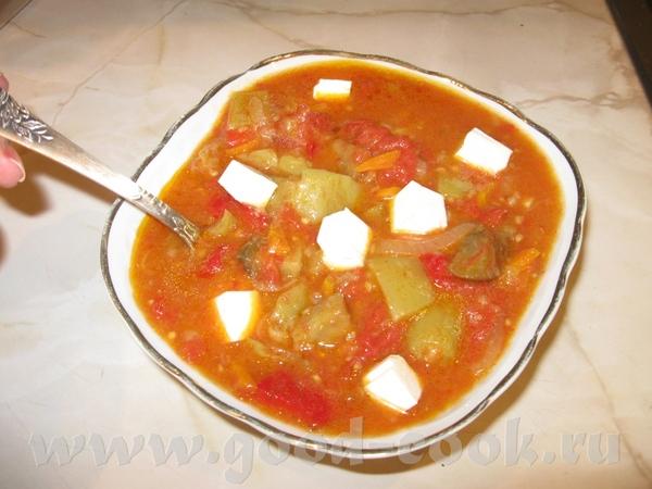 Используя овощи по сезону, приготовила простое Соте из баклажанов с фетой Почистила три крупненьких... - 2