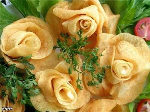 Cегодня сделала на ужин вот такие картофельные розы - замечательно нежные и хрустящие - 2