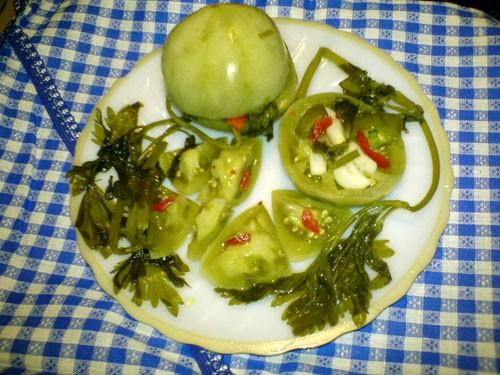 Соленые зеленые помидоры на зиму - 2