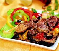 Баранина по-алжирски Порций: 6 порций Что нужно: 500 г филе баранины 100 г маша 2 средних баклажана...