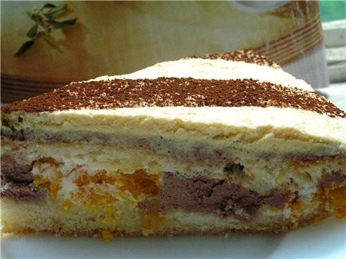 Торт-рулет с малиной Маковый торт с вишней Черно-белый торт с мандаринами - 6
