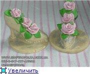 Пирвет,девченки,300 лет не виделись))) принесла вам свои работы,кидайте тапками,не стесняйтесь))) туфля и мышь из шоко... - 3
