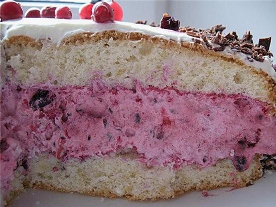 торт с ягодным ассорти для теста 3 яйца,150 г сахара,100 г муки,50 г крахмала,2 ч - 2