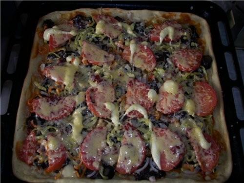 Пицца Пицца из моего любимого теста