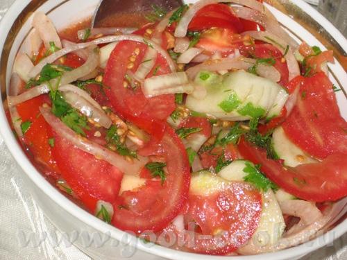 Еще один пятничный ужин: Капустный салат с зеленым луком и зеленью, заправлен подсолнечным маслом П... - 4
