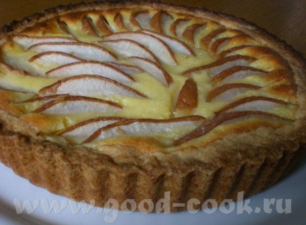 Birnentarte mit Creme Fraiche-Guss Грушевый тарт с заливкой из Крем-Фреш Замечательный тарт – нежны...