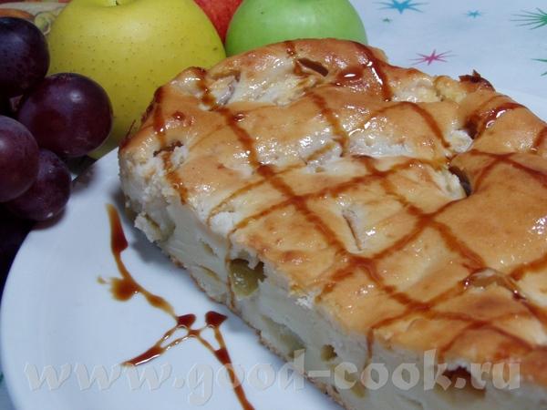 Творожный пирог с яблоками 100 г сл