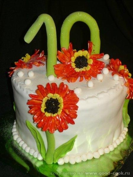 торт с цветочками))