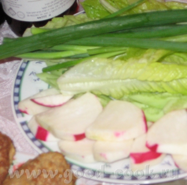 И так первый седер: Маринованые грибы Зелень и горькие овощи Салат из тунца Зеленый салат (листья с... - 2