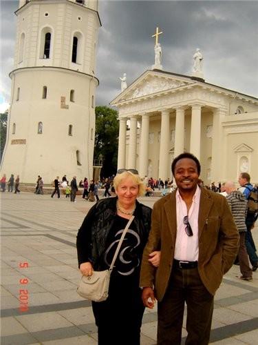 на этом фуникулере мы поднялись на башню Гедиминаса - символ столицы а вот и сама башня, которая ст... - 5