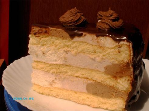 Мишель, вот принесла разрез Бисквитно-муссового торта