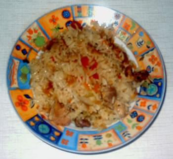 Сегодня у меня был картофельный супчик и курочка с рисом и овощами - 2