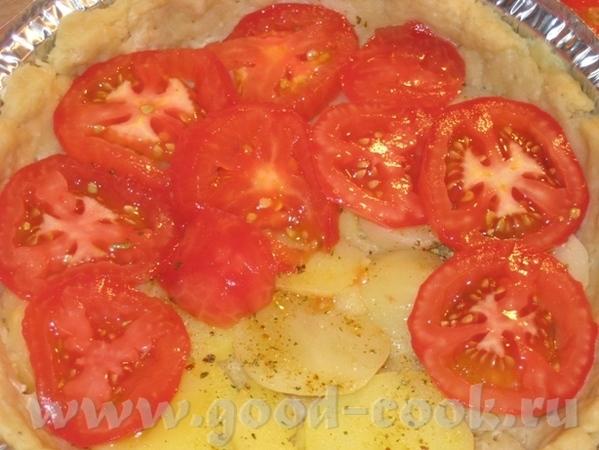 Тарт с картошкой, помидором и двумя сырами Рецепт теста взят в журнале Хлеб и Соль за август 2010 - 5