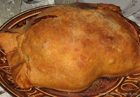 Курица запеченная в тесте рецепт с фото