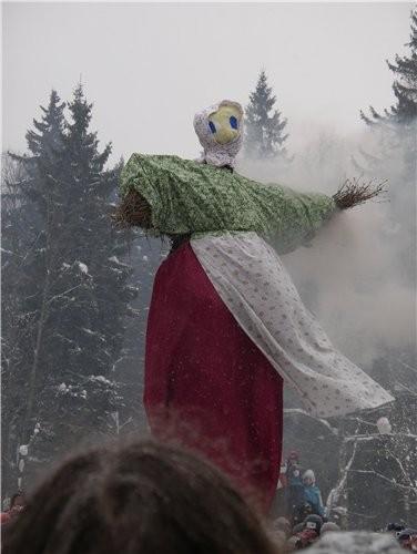 А вот немножко зимы: Так у нас отмечают Масляницу - 4