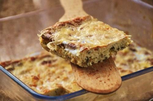 нежная, пикантная, ароматная запеканка, на завтрак или ужин, со сметаной или с салатом