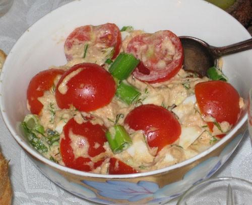 Салат из тунца с помидорами от - 5