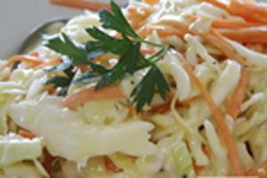 капустный салат с домашним майонезом