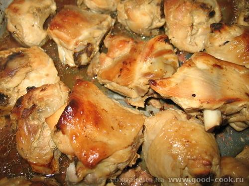 курица готовая в меду под соевым соусом