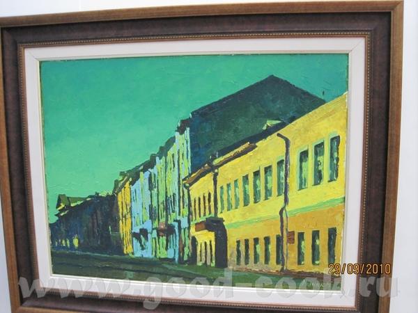 Фактурно на бумаге(если не вру): Художник Рудник, у него все работы в таком зеленом колорите(можно... - 2