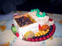 """Торт-грузовичок на двухлетие Основа торта - печенье """"Неженка"""" или любое другое малышацкое печенье - 2"""