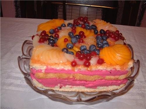 сегодня вот такой тортик испекла