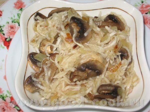 Салат из шампиньонов с редькой от Lepi