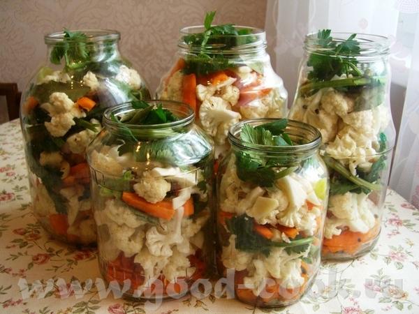 Армянские соленья из цветной капусты (тту) рецепт от моей армянской бабушки )) Кроме соли всё кладу.