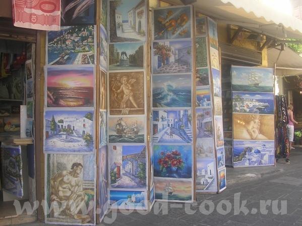такие картинные магазинчики на Родосе- покупают не очень, надо сказать
