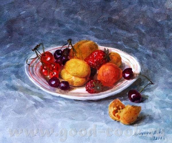кселена я читала что для кухни, лучше всего натюрморт делать с персиками апельсинами, ярких цветов,... - 10