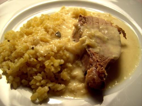 Мечтаю побывать на твоем скромном ужине , боюсь, что не скромный не осилю А у нас на ужин было мясо...