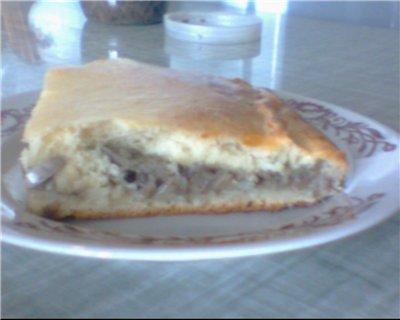 А сегодня я делала Пирог с грибами Тесто: 2 яйца (у меня были большие) 1ч