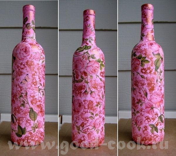 """Стеклянная бутылка """"Все любят джаз"""" (перцовка Немирофф), акрил, яичный белок (как клей) , фрагменты... - 2"""